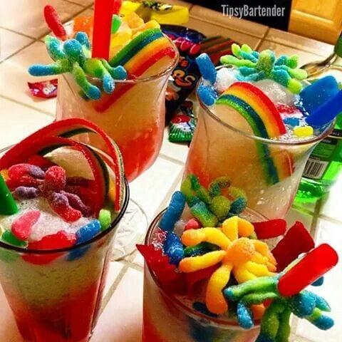gummy worms slushie