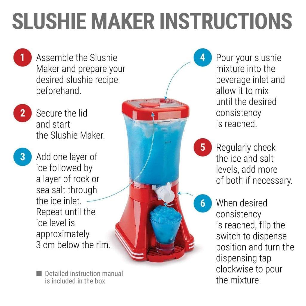 slush machine instructions