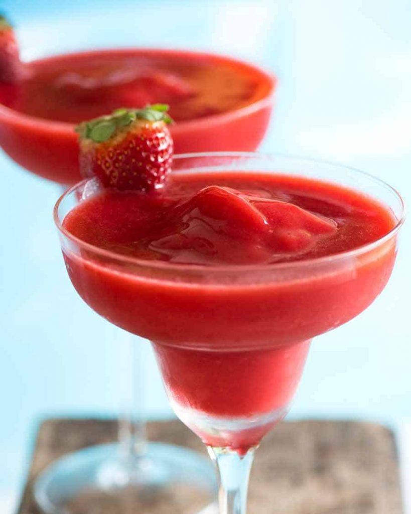 frozen strawberry vodka drinks